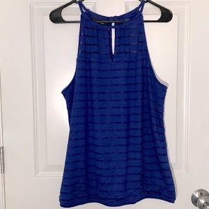 Electric Blue Striped Tank top